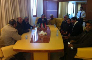 لقاء وزير التخطيط بالمعتصمين بخصوص صندوق الانماء